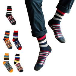 Fashion Men Cotton Creative Funny Socks Warm Striped Printed