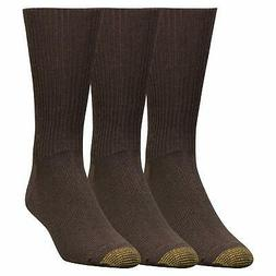 Gold Toe Men's Premium Fluffies Acrylic Dress Socks, 3-Pack,