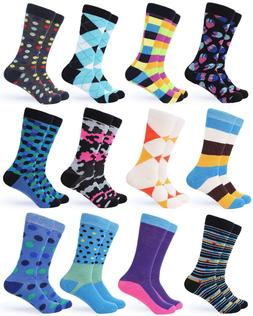 Gallery Seven Mens Dress Socks. Funky Colorful Socks for Men