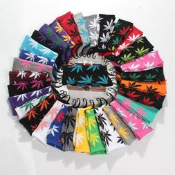 Mens Cotton Socks Funny Fashion Marijuana Leaf Casual Long W