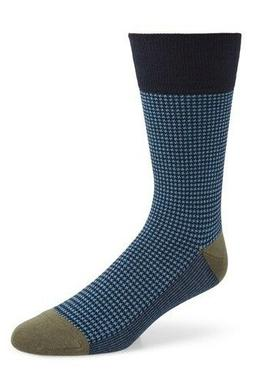 Calvin Klein Houndstooth Crew Socks Blue Mens 7 To 12 New