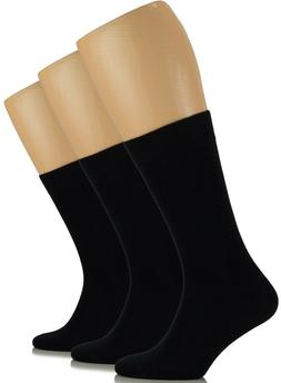 MEN Dress Crew BAMBOO VISCOSE Socks, Solid Colors, MEDIUM, C