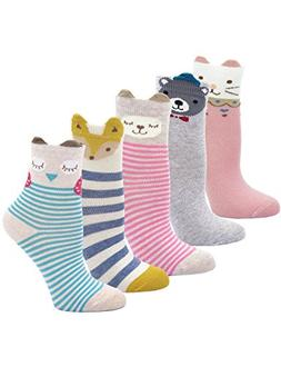 Kids Socks Cotton Striped Stereo Animal Ear Cute Baby Unisex