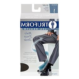 Truform Men's Knee High 15-20 mmHg Compression Dress Socks,