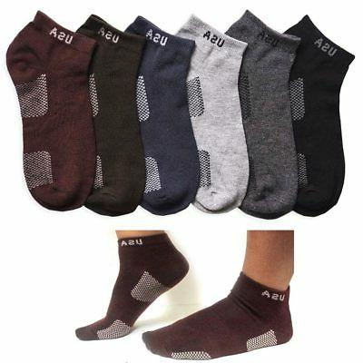 12 Pair Men Women Sport Ankle Quarter Socks Crew Usa Spandex