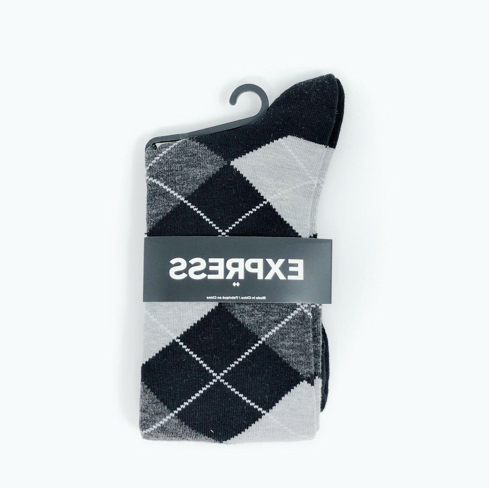 3 Express Pattern Dress Socks Men's Shoes