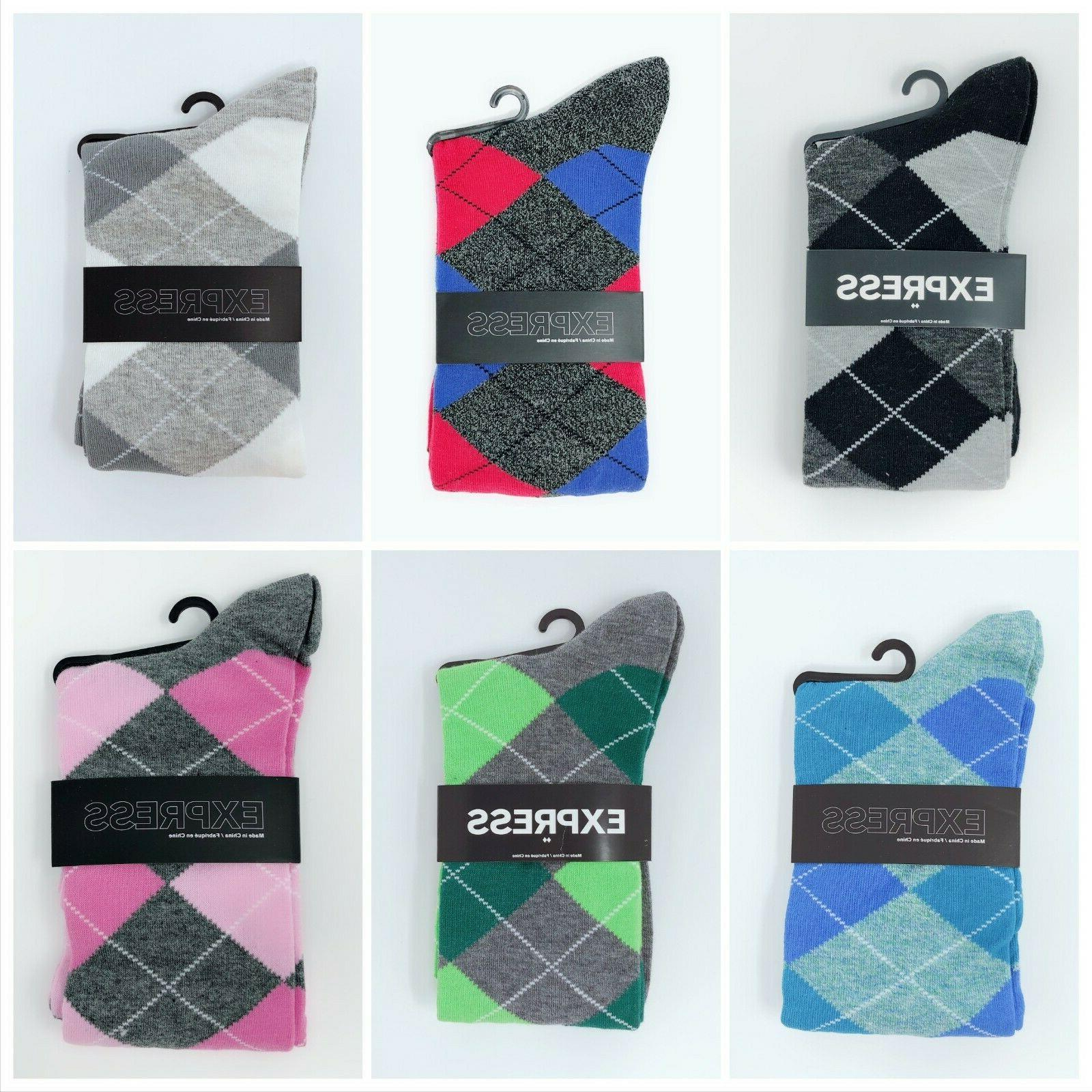 3 pairs random pattern dress socks men