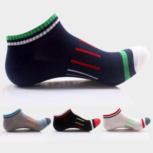 4pair Mens Breath Mesh Sport Ankle Socks Cotton Skating Cycl