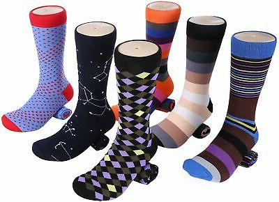 6 Pack Dress Socks Fun Cotton Socks