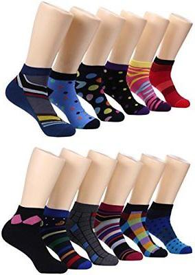 Marino Avenue Mens Low Cut Colorful Dress Socks - Funky Athl