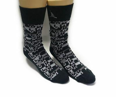 NIKE AIR JORDAN Retro 5 Dress Socks SX5325-010 Black MENS SH