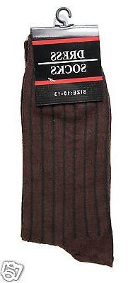 New Ribbed Socks Casual Multi Color Size 10-13