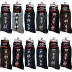 New 12 Pairs Mens Argyle Diamond Cotton Dress Socks Size 10-