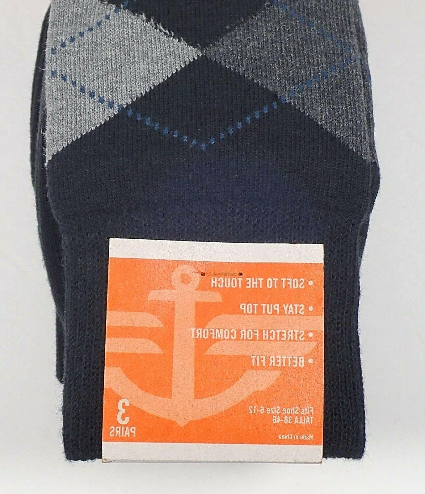 Brand Dockers Pairs Socks Assorted Casual Cotton 6-12