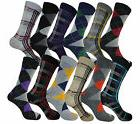 12 PAIR MENS WOMEN DRESS SOCKS SIZE 9-11 FASHION COTTON SOCK