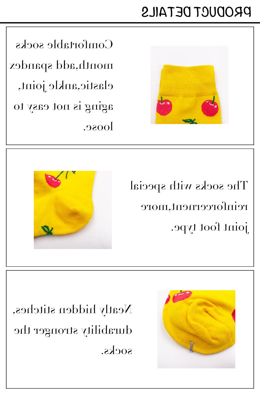 VPM GIFT EU 38-44 Cute Food Fruit Harajuku Happy <font><b>Socks</b></font>