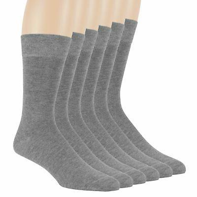 Men Bamboo 6 Pack Grey Large Dress Casual Breathable Hypoall