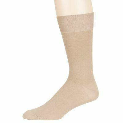 Mens Cream 6 Pack Business Casual Breathable Socks