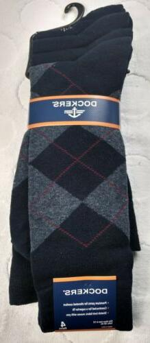 Men's DOCKERS Argyle Dress Socks - Navy Multicolor - 4-Pack