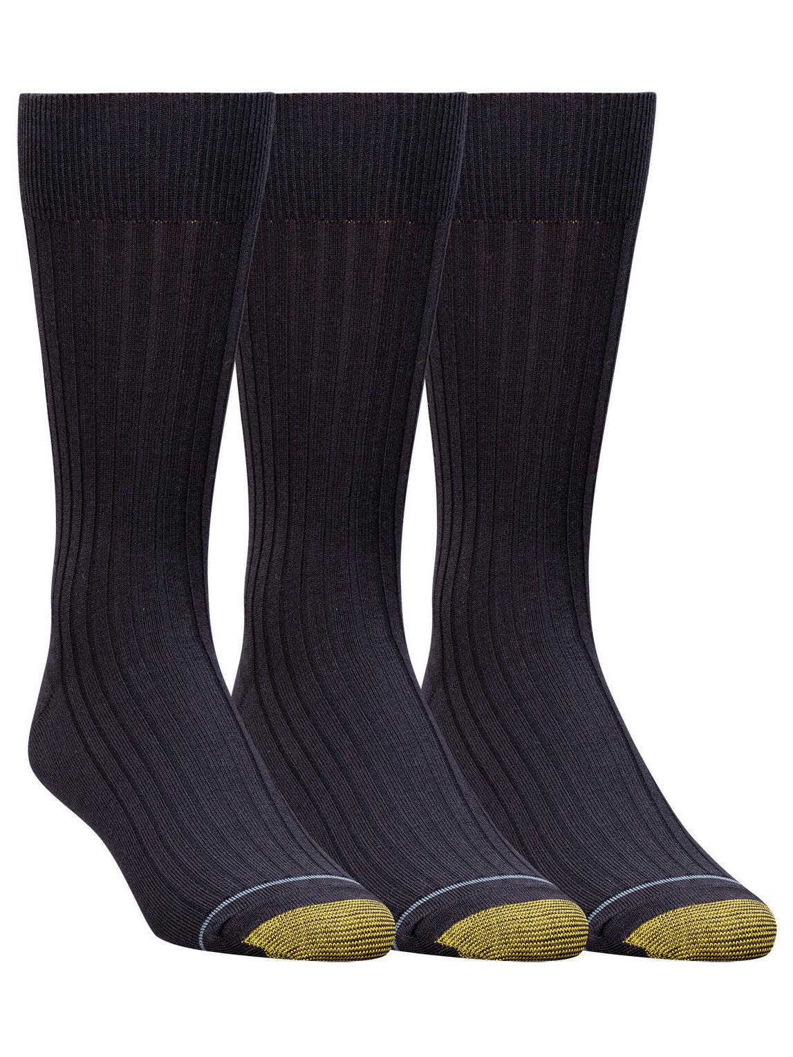 Gold Toe Men's Big & Tall Canterbury Extended Sock 3 Pack St