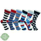 Alpine Swiss Men's Cotton 6 Pack Dress Socks Striped & Argyl