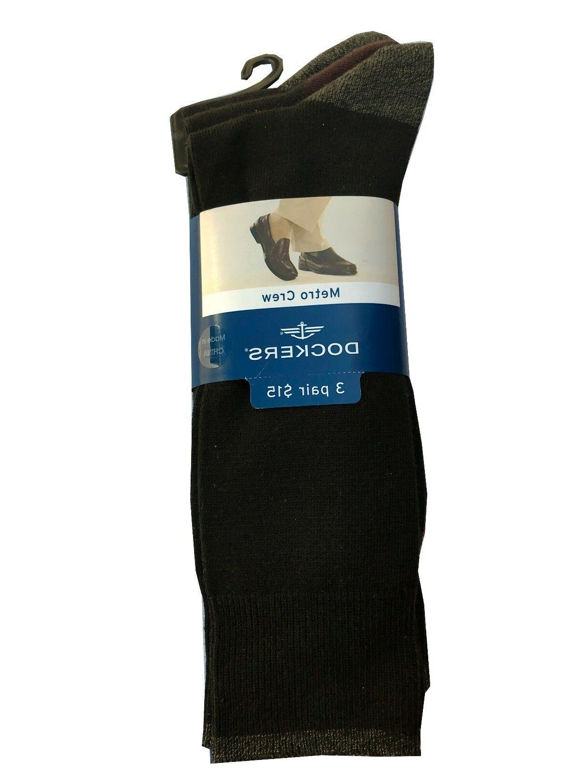 "Dockers® Men's Crew Socks 3-Pack "" Metro"