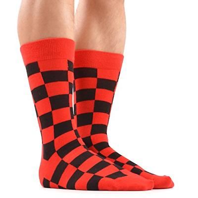 WeciBor Men's Dress Colorful Cotton Socks 12