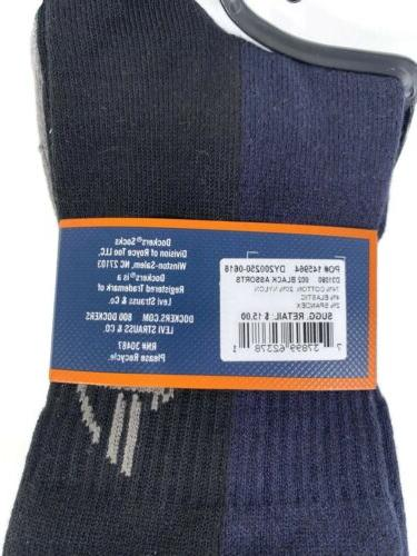 Mens Classic Dress Socks Blue Black Fits Shoe 6-12