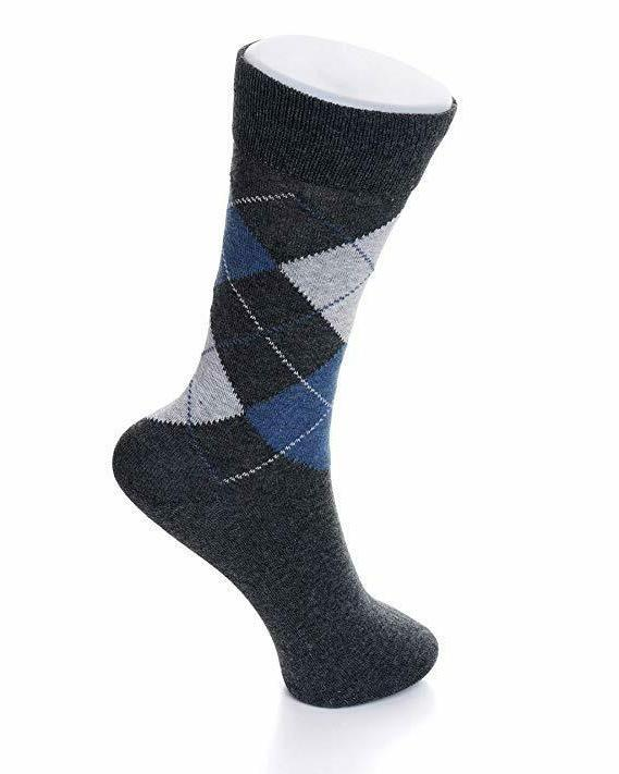 Alpine Swiss Mens Cotton 6 Solid Argyle Size
