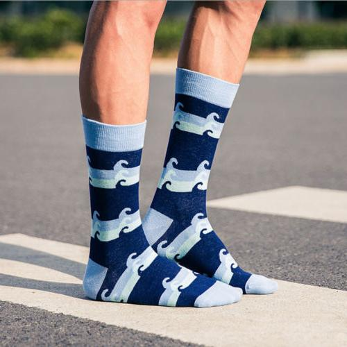 Mens Happy Colorful Fashion Fancy Casual Sock Dress