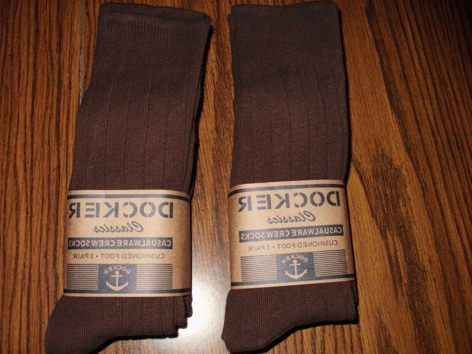 MENS CHOCOLATE BROWN 6 PAIR FREE