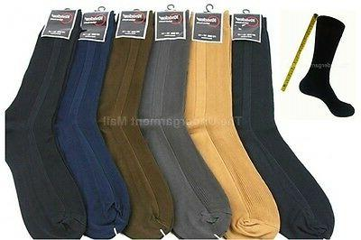 mens dress socks 6 pairs lot ribbed