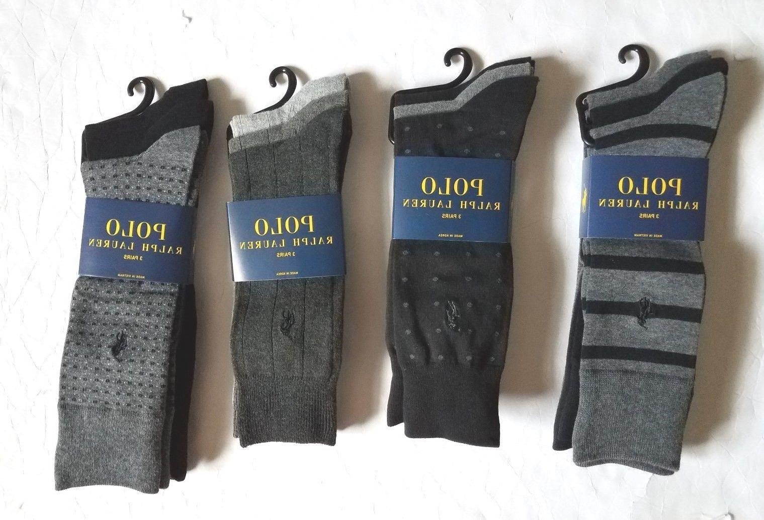 Polo Ralph Lauren Men`s Long Socks 3pair Dress Socks Classic