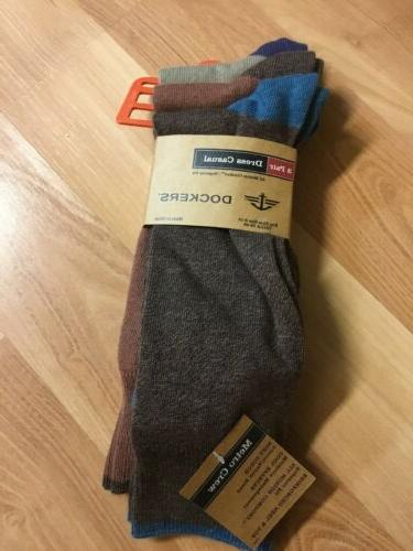 mens metro crew socks nwt 3 pair