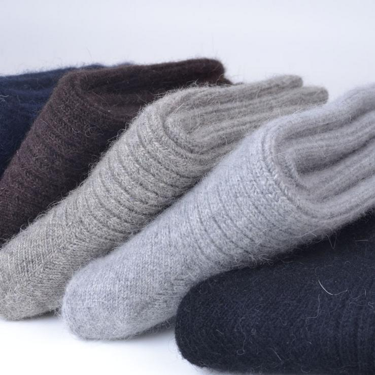 Merino 100%Wool Pack Socks Solid Thick Thermal Crew