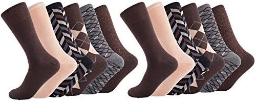 Mio Marino Socks Argyle Cotton Crew for - Business casual socks - Style Pack - 10-13