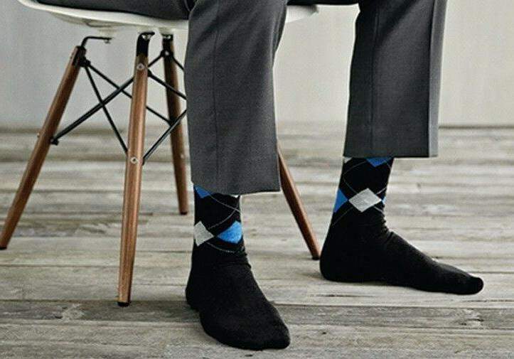 New 6 Pairs LORDS Mens Argyle Socks Cotton europa_boats
