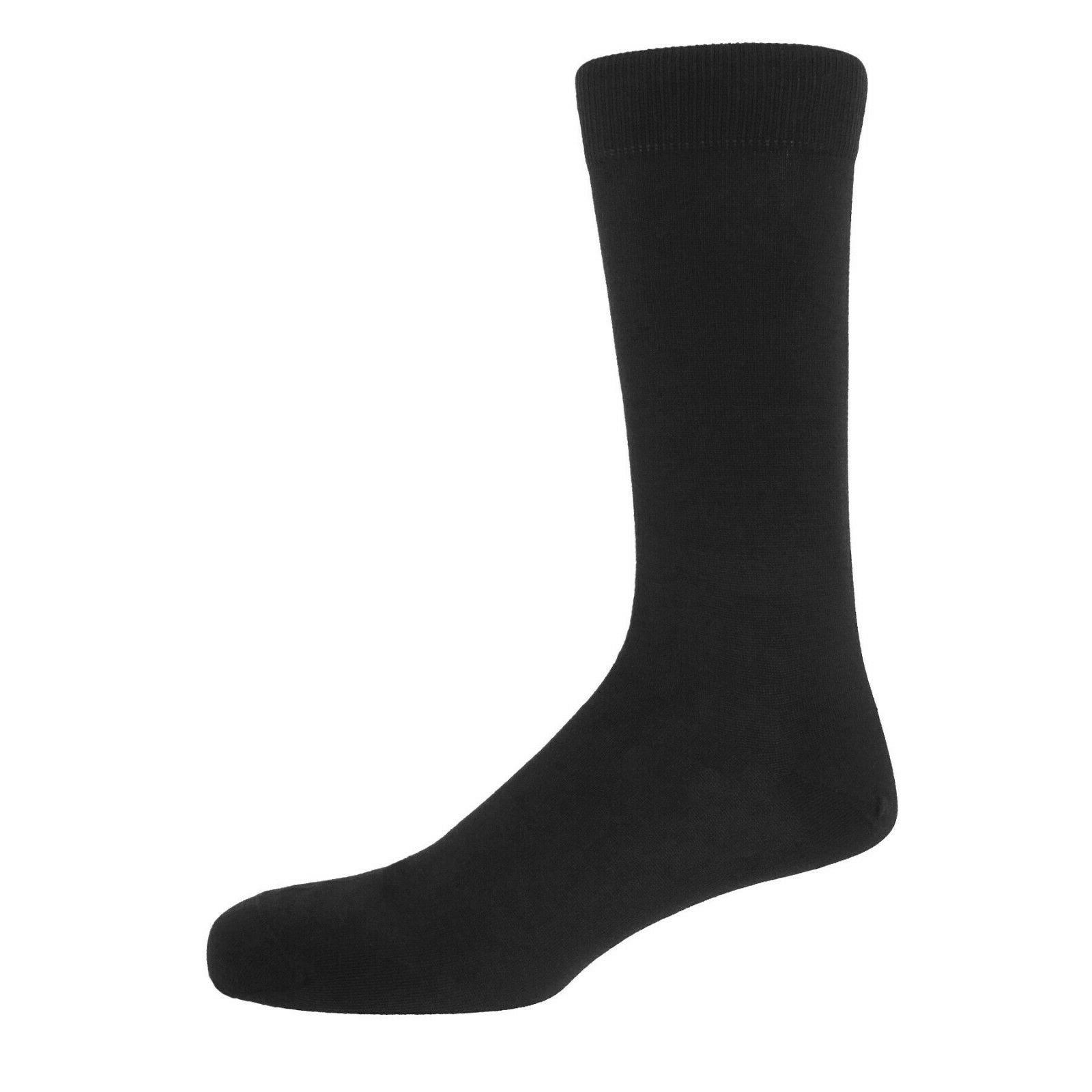 New Pairs Mens Black Classic Dress Cotton Solid Sox