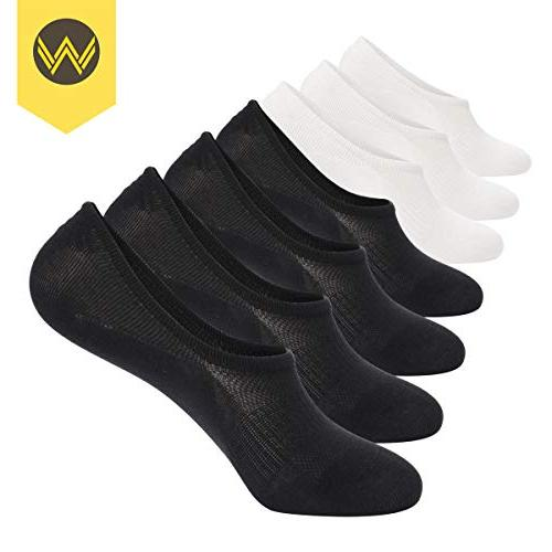 No Show Socks Mens Pack Thin Slip Low Cut Invisible 10-12