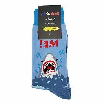 NWT Me Dress Socks Men Blue Fun Sockfly