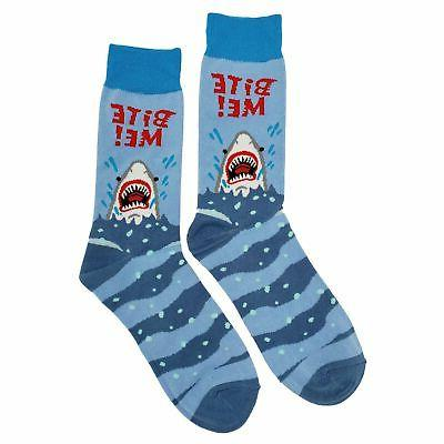 nwt bite me dress socks novelty men