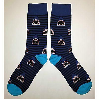 Socks Novelty Men Blue