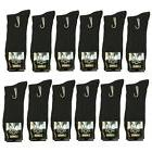 New Lords 12 Pairs Mens Fashion Ribbed Dress Socks Cotton Si