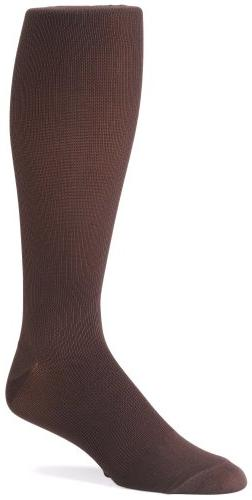 Futuro Support Socks Men's Dress Socks, Brown, Large, Firm,
