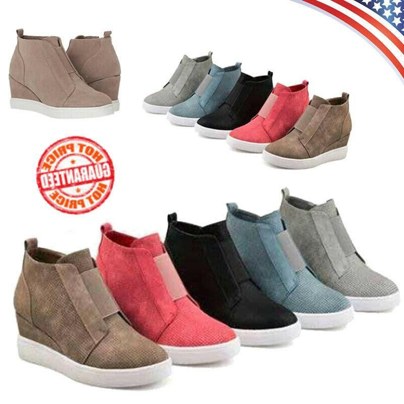 Low Heel Ankle Sneakers up Shoes
