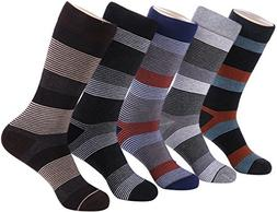 Marino Mens Patterned Dress Socks, Colorful Fun Socks, Fashi