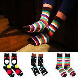 Men Cotton Socks Cute Colorful Novelty Funny Dress Ankle-Hig