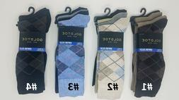 GOLD TOE Men's 4 Pack  Cotton Blend Argyle Dress Socks, 10-1