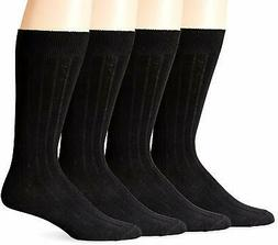 Dockers Men's 4 Pack Dress Wide Rib Crew Socks - Choose SZ/C
