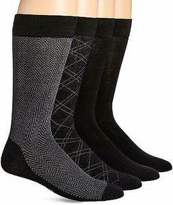 Dockers Men's 4 Pack Herringbone Dress Socks